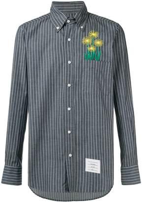 Thom Browne Pinstriped Straight-Fit Shirt