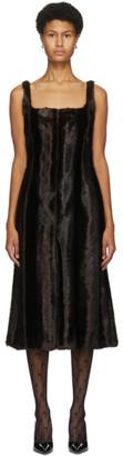 Commission Brown Faux-Fur Dress