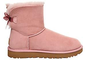 UGG Women's Mini Bailey Bow II Suede Ankle Boots