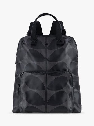 Orla Kiely Bestie Zip Up Backpack, Grey