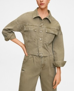 MANGO Women's Color Denim Jacket