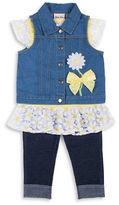 Little Lass Girls 2-6x Embroidered Daisy Organza Set