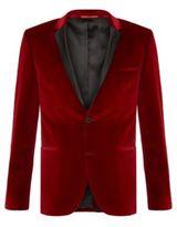 Hugo Boss Adrison Extra Slim Fit, Cotton Velvet Sport Jacket 38R Red