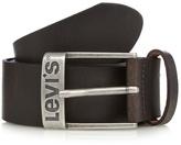 Levi's Dark Brown Leather Branded Buckle Belt