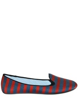 Charles Philip Printed Canvas Loafers