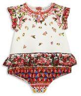 Dolce & Gabbana Baby's Floral Peplum Bodysuit