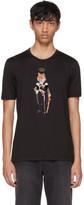 Dolce & Gabbana Black Royal Fox T-Shirt