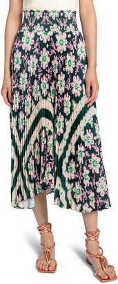 A.L.C. Sonali Pleated Floral Maxi Skirt