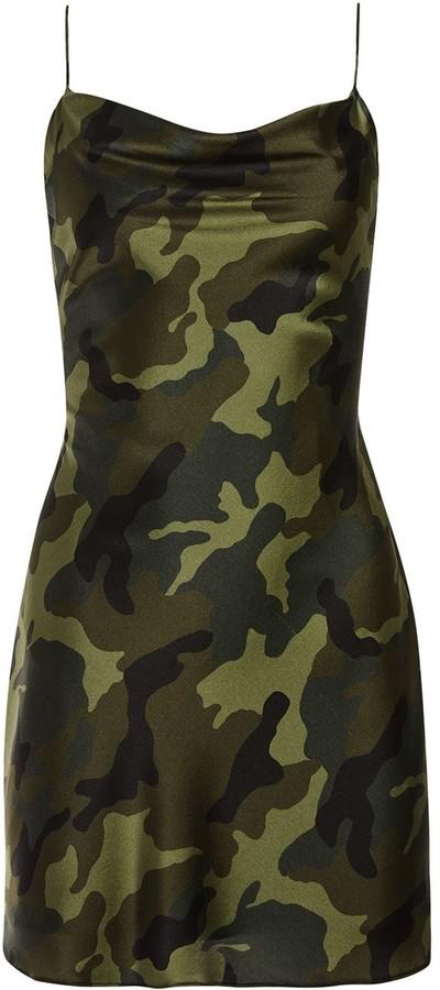 Alice + Olivia Camouflage Print Cami Dress