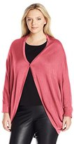 Melissa McCarthy Women's Plus Size Shrug Sweater with Button