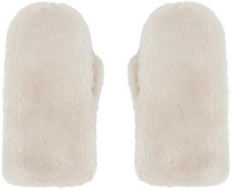 Yves Salomon Pink Convertible Wool Mittens