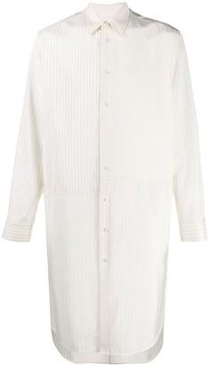 Jil Sander striped panel long shirt
