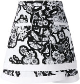 Carven geometric floral-print skirt - women - Polyester - 36