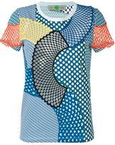 Stella McCartney 'Cobalt Mesh Mix' T-shirt - women - Cotton - 42