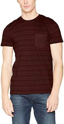 Esprit Men's 087ee2k020 T-Shirt, Bordeaux Red 600, Medium