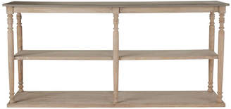 OKA Parkstead Wood Console Table with Shelves - Wood