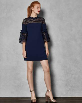 Ted Baker Lace Panel Bell Sleeve Tunic