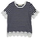 Soprano Girls 7-16 Girls Crochet Daisy Tee
