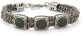 Emanuele Bicocchi - Green Marble & Sterling Silver Bracelet - Mens - Silver