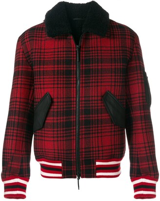 Tommy Hilfiger checked bomber jacket