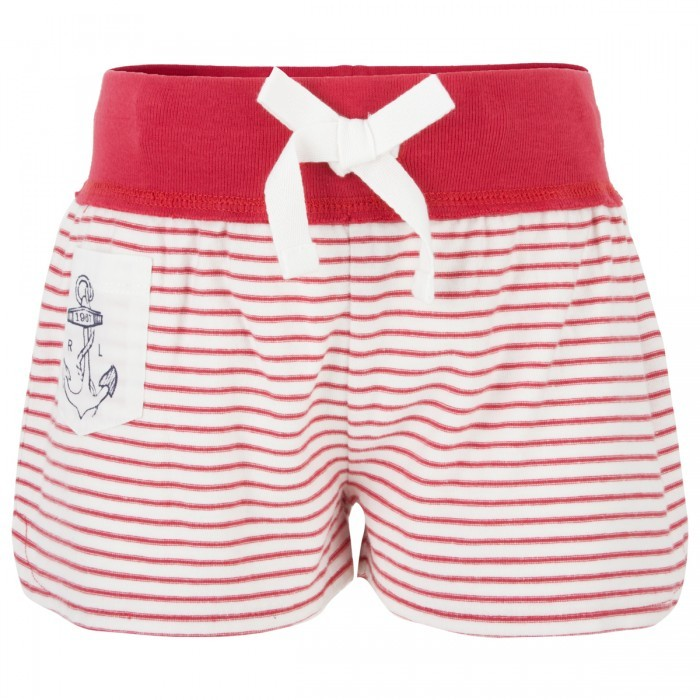 Ralph Lauren Red And White Stripe Jersey Shorts