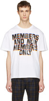 Stella McCartney White 'Members And Non Members' T-Shirt