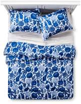 Xhilaration Blue Floral Painterly Comforter Set