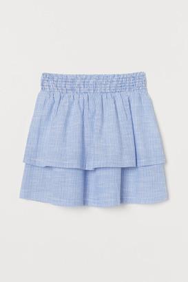 H&M Tiered Cotton Skirt - Blue