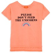 Butter Shoes Girls' Please Don't Feed The Unicorns Tee - Big Kid