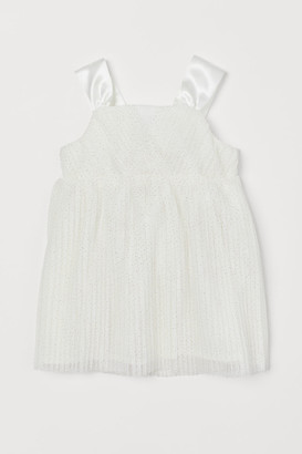 H&M Pleated tulle dress