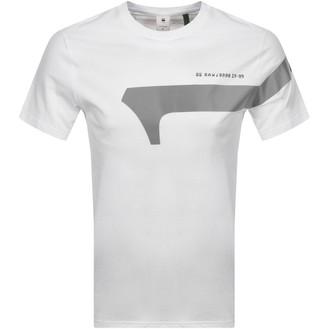 G Star Raw Reflective Logo T Shirt White