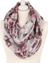 George Floral Metallic-Shimmer Snood