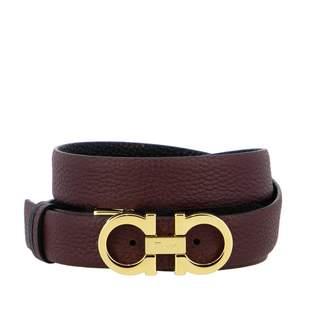 Salvatore Ferragamo Gancini Belt In Reversible Leather