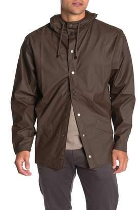 Rains Waterproof Long Hooded Jacket