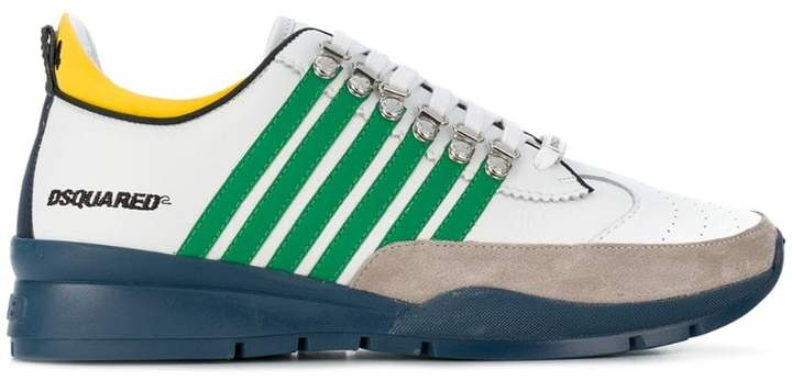 DSQUARED2 striped low top sneakers