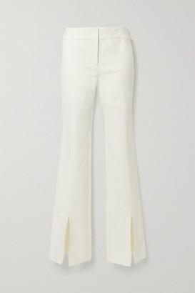 Derek Lam 10 Crosby Maeve Cotton-blend Crepe Flared Pants - Cream