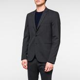 Paul Smith Men's Slim-Fit Grey Puppytooth Stretch-Wool Blazer