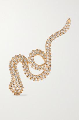 OLE LYNGGAARD COPENHAGEN Snake 18-karat Gold Diamond Earring - L