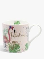 Bellybutton Designs Fabulous Flamingo Mug, 350ml, Pink/Multi