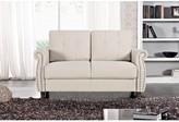 "BEIGE Waloo 57.48"" Rolled Arm Loveseat Red Barrel Studio Upholstery Color"