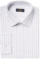 Club Room Estate Men's Classic-Fit Wrinkle Resistant Grid-Pattern Dress Shirt, Only at Macy's