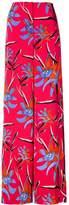 Diane von Furstenberg wide-leg floral trousers
