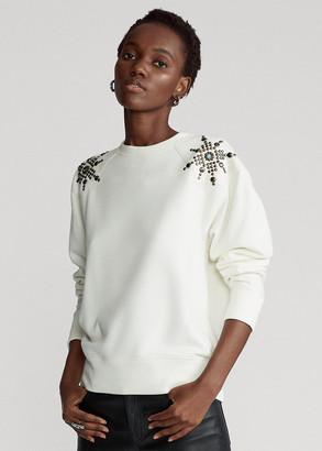 Ralph Lauren Studded Fleece Sweatshirt