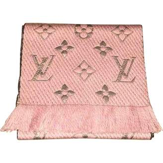 Louis Vuitton Logomania Pink Wool Scarves