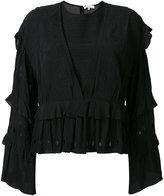 IRO embroidered ruffle blouse