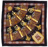 Hermes Cliquetis Silk Pocket Square