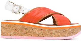 Clergerie Urcy flatform cork sandals