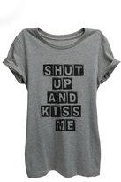 Thread Tank Kiss Me Womens Relaxed T-Shirt Tee