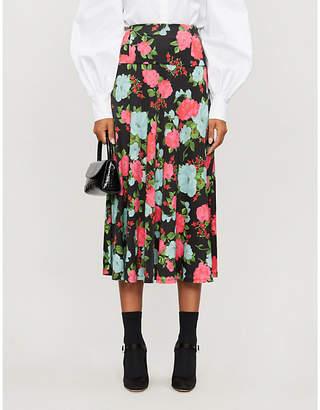 Erdem Elvin floral-print stretch-jersey midi skirt