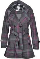 Noroze Womens Check Hood Coat ( (UK 14), )
